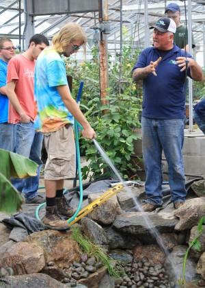 filling water garden