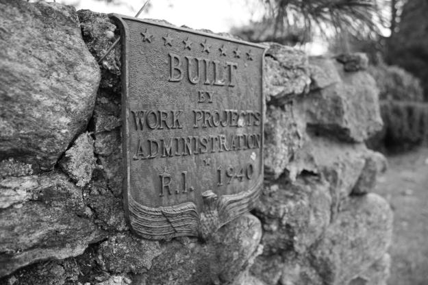 WPA plaque garden wall
